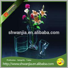 Acrílico vaso de vidro, acrílico vaso de plástico transparente, vaso de cemitério