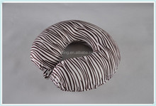 the best zebra-stripe U shape travel neck pillow for airplane, train, bus, car or home use