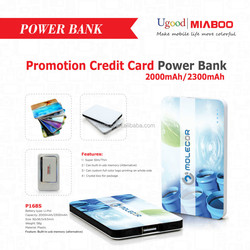 Small Size Good For Gift 2000mah power bank charger, usb stick mobile phone charger, Latest credit card power bank 2000mah