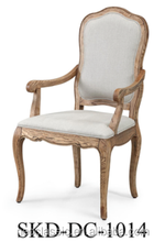 sculptured solid wood dining chairs wirh arms, upholstered armschair Restaurant chair sets