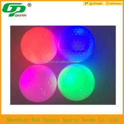 Two pieces ball conformation LED golf ball ,LED light source 45g LED bulb,practice golf ball