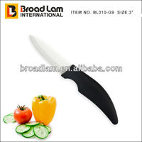 3 inch Ceramic Fruit Knife, white blade, Razor-Sharp blade with ABS handle