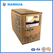 Packed special transparent wine packaging bag in box