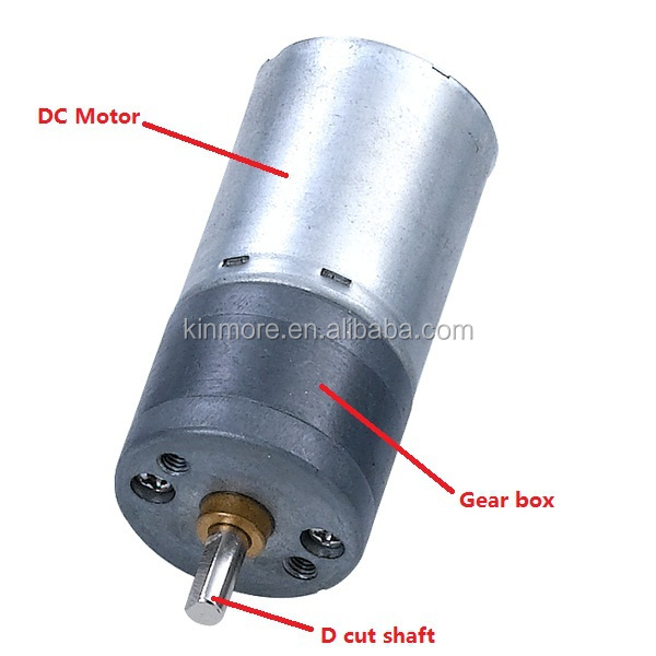 High quality 12v 25mm small electric gear motor view for Small geared electric motors