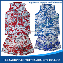 2015 new style 100% ployester custom dye sublimation reversible latest basketball jersey with Logo design