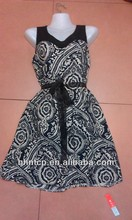 Bhn906 vestidos baratos Material rayón Stocklot ropa nueva para mujer ropa venta al por mayor del vestido