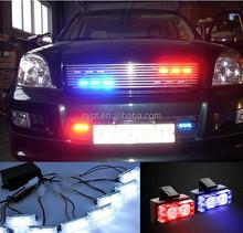 8x4 led dash strobe light for police car - LED448- red/blue/green