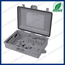 Plastic material 24 cores fiber optical terminal box / cable connection box