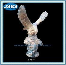 antiguo grande al aire libre jardín flying eagle estatuas para la venta