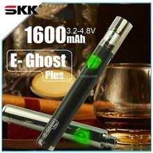 exclusive design E-Ghost plus top twist 1600mAh micro USB passthrough battery vapor pen