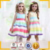 classical baby girls knitted dress rainbow designs baby girls party wear dress
