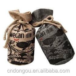 Eco-friendly packing mini jute bags wholesale,custom printed jute lunch bag