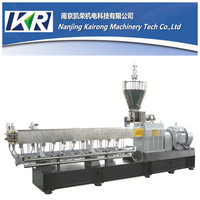 nanjing kairong Parallel twin screw pet plastic granulator with noodles cutter