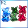 Synthetic Ruby Gemstone Four-leaf 4 Clover red clover extract for jewelry