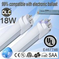 99% compatible with electronic ballasts led tubes t8 www you tube com 18w 100-277V UL DLC