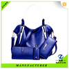 cheap 2016 blue traveling leather bags,4pcs leather bags