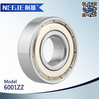 China supplier Cixi Negie factory manufactures good performance high speed bearing 6001zz water