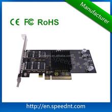 Standard PCI-E X8 fiber NIC server adapter card