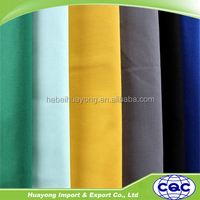 plain woven 65/35 poly/cotton pocketing fabric in white and color