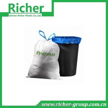 2015 HOT SEAL High quality disposable plastic cheap colored drawstring garbage/trash bag at prices lower price