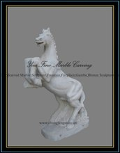 2012 white handcarved marble animal statue figure