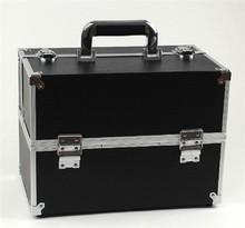 Slap-up PU leather black makeup case portable case kit RZ-SC-049