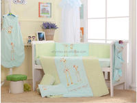 high quality hand embroidery bedding sheet for baby in lovly cute design