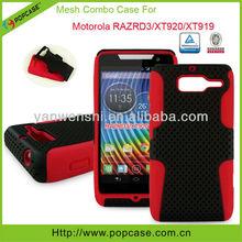silicone & pc phone cover for motorola razr d3