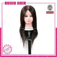 2015 Xuchang RuiJia human hair training mannequins head,training heads,manikin head with hair