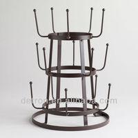 Fashion design of art glass metal display stand BW-083