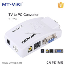 MT-VIKI MT-TP02 av rca to vga crt monitor converter,TV to PC converter support PAL/NTSC