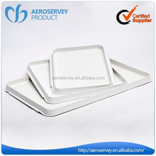 Most popular white skidproof reusable serving trays square clear plastic tray