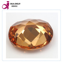 The Best Sales Champagne Gemstone CZ Stone Oval Shape gemstone