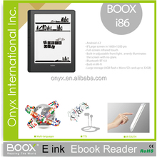 """8"""" e ink display ebook reader android 4.0 front light wifi multi-language support"""