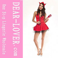 Fashionable Red hot sexy Devil Girl Costume