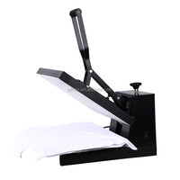 CE Approval Economic flat heat transfer press machine, even pressure, use for printing tee shirt, mouse pad, rock photo.