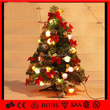 New product small christmas tree with bowknot ball and cone