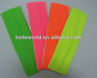 cotton Stretch sports Headband in neon color