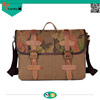 crazy horse leather new style printing vintage shoulder bag for men high quality