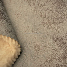 bronzing suede bonded with Sherpa fabric