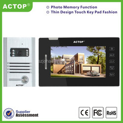 "2015 7"" TFT creen touch keypad photo taking automatically video door bell intercom camera"