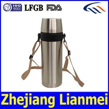 CE / EU,CIQ,EEC,FDA,LFGB,SGS Certification new promotional products Eco-friendly double wall 18 8 stainless steel vacuum bottle
