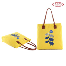 Designer canvas tote shoulder bag for young ladies/women/teen girls with customzied size&logo