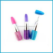 Diamond lipstick ball pen for gift and promotion,bling biling ballpoint pen