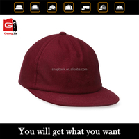 burgundy color fashion high quality blank snapback hats