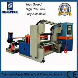 Ultrosonic Roll Paper/BOPP/PET/PE/PVC Slitting Machine For Sale