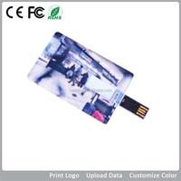 clear color printing Business card usb flash drives bulks