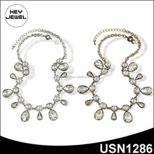 clear stone statement latest design pearl necklace