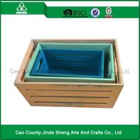 2015 New design Storage basket rectangular wooden tray / wooden box tray