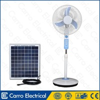 12v solar led dc axial fan for home 16inch 15w stand fan
